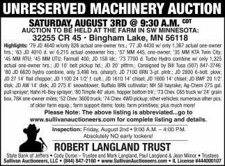 Unreserved Machinary Auction