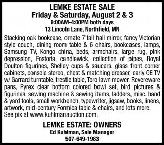 Lemke Estate Sale