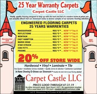 25 Year Warranty Carpets