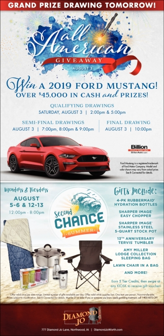 Win a 2019 Ford Mustang!