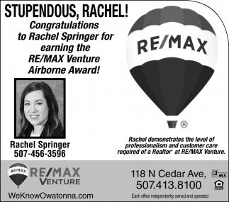 Stupendus Rachel! Airborne Award