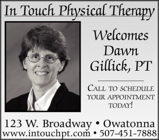 Welcomes Dawn Gillick, PT