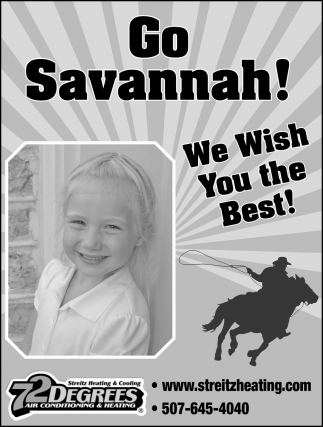 Go Savannah! We Wish You the Best!