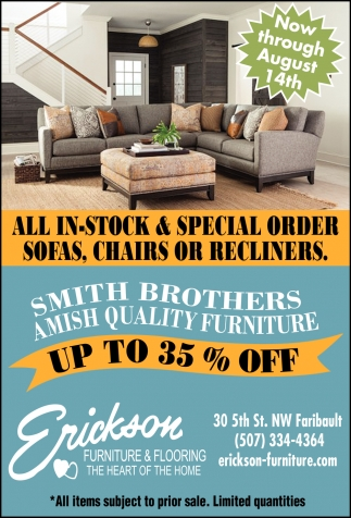 All In-Stock & Special Order Sofas, Chairs or Recliners