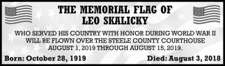 Memorial Flag of Leo Skalicky