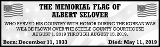Memorial Flag of Albert Selover
