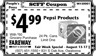 Steele County Free Fair Coupon