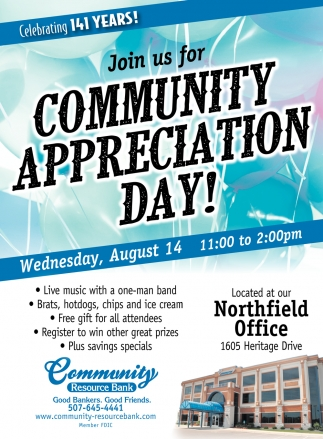 Join us for Community Appreciation Day!