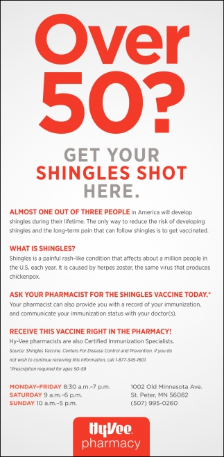 Over 50? Get your shingles shot here