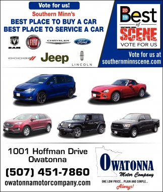 Vote for us! Southern Minn's - Best Place to Buy a Car, Best Place to Service a Car