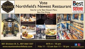 Vote Northfield's Newest Restaurant