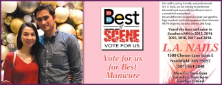 Vote for us for Best Manicure