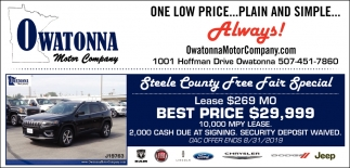 One low price... Plain and simple... Always!