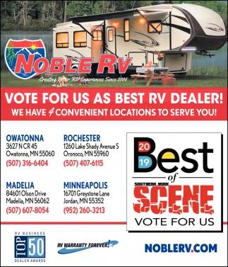 Vote for us as Best RV Dealer!