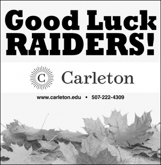 Good Luck Raiders!