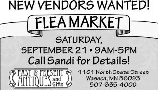 New Vendors Wanted!