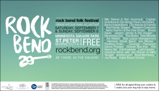 The Rock Bend Folk Festival is a free, all-ages music festival held annually the weekend after Labor Day