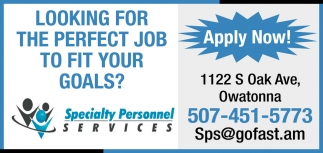 Looking for the perfect job to fit your goals?