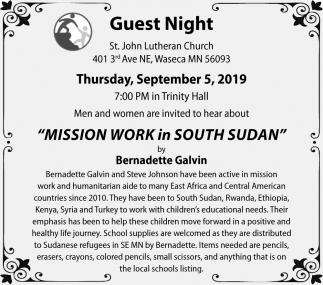 Mission Work in South Sudan by Bernadette Galvin