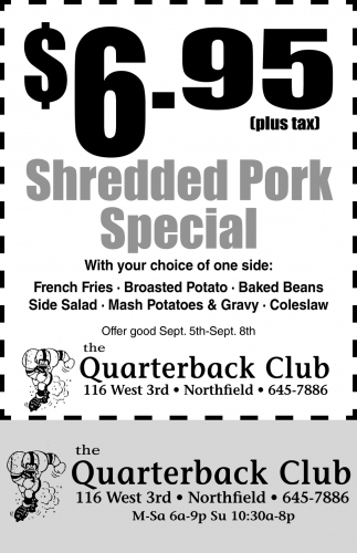 $6.95 Shredded Pork Special
