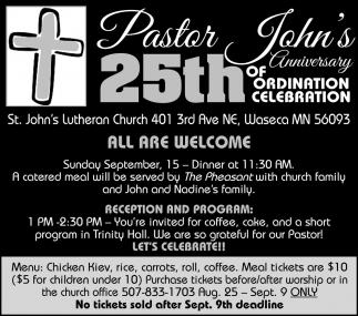 25th Pastor John's Anniversary of Ordination Celebration