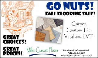 Go Nuts! Fall flooring sale!