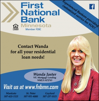 Contact Wanda Jaster for all your residential loan needs!