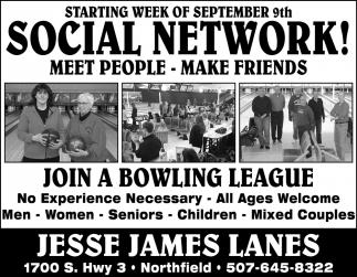 Starting week of september 9th - Social Network!