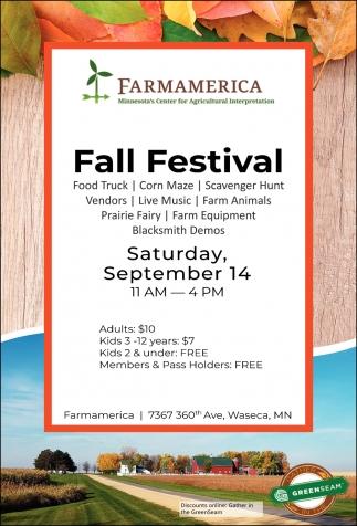 Fall Festival - September 14