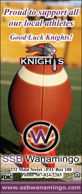 Proud to support all our local athletes - Good Luck Knights!