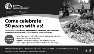 Come celebrate 50 years with us!
