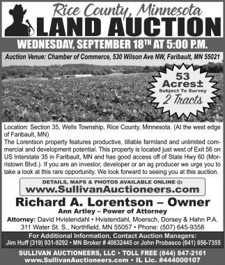 Land Auction ~ September 18th