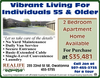 Vibrant Living For Individuals 55 & Older