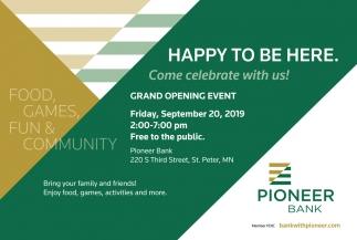 Grand Opening Event - September 20