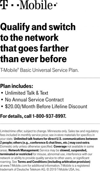 Qualify and switch to the Most Love Brand in Wireless