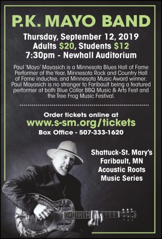 P.K. Mayo Band - September 12