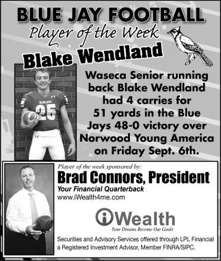 Player of the Week - Blake Wendland