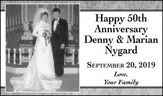 Happy 50th Anniversary Denny & Marian Nygard