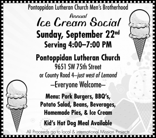 annual Ice Cream Social - September 22nd
