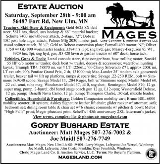 Estate Auction - September 28th