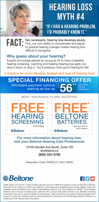 Special Financing Offer $56