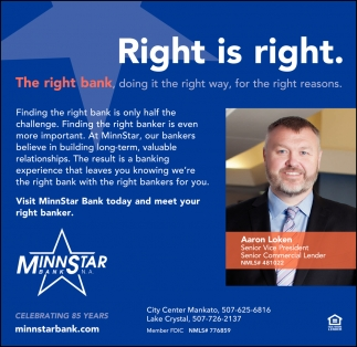 The right bank, doing it the right way, for the right reasons