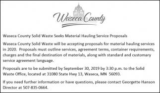 Material Hauling Service Proposals