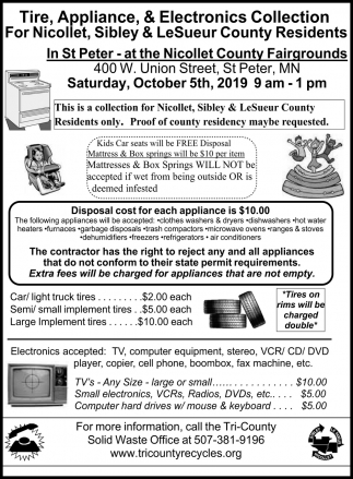Tire, Appliance, & Electronics Collection