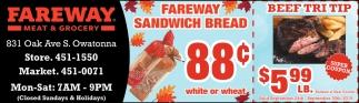 Fareway Sandwich Bread 88¢