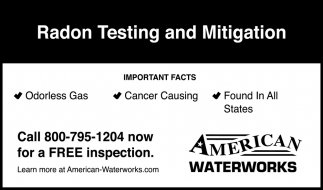 Radon Testing and Mitigation
