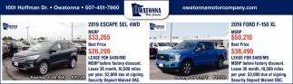 2019 Escape SEL 4WD | 2019 Ford F-150 XL