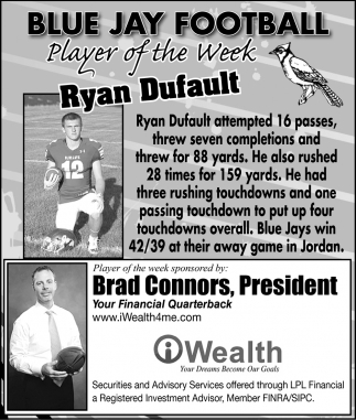 Player of the Week - Ryan Dufault