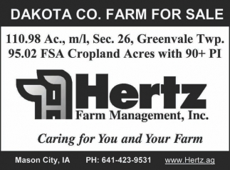 DAKOTA CO. FARM FOR SALE
