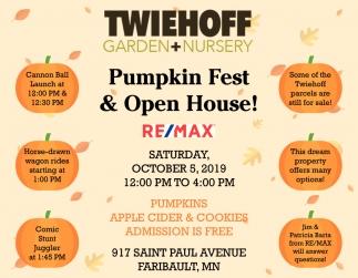 Pumpkin Fest & Open House!